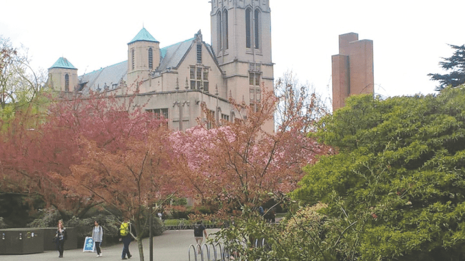 View of UW's campus from the Husky Union Building.