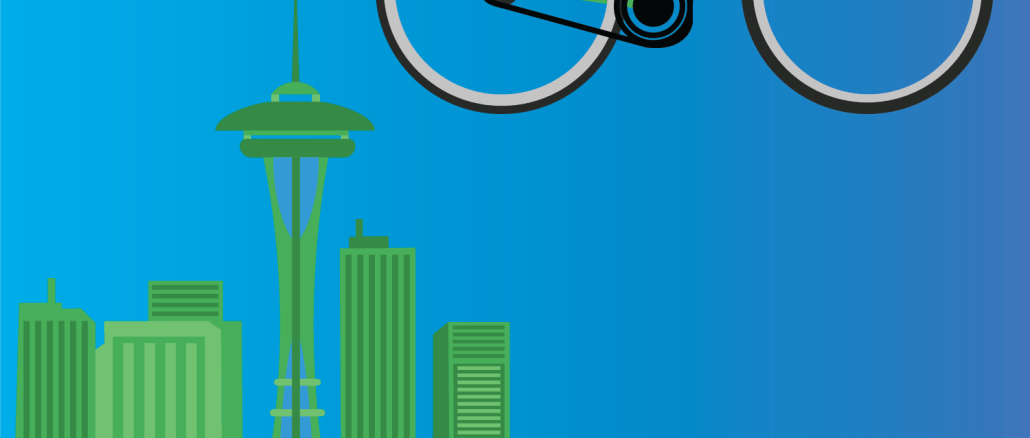 picture of seattle and bikes
