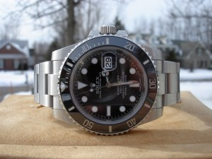 Rolex Submariner Date Watch by the window