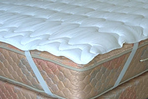 The Pad Is Attached To Mattress Using Elastic Band At Corners Not Available In Round Sizes