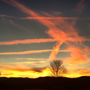 Thanksgiving Sky over Chattahoochee National Forest