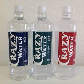 Crazy Water natural mineral water is available at The Water Fountain.