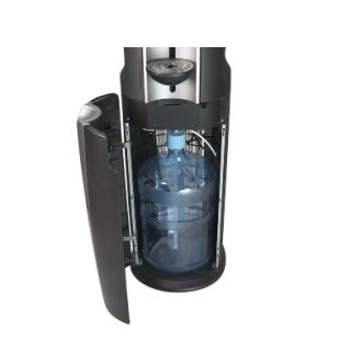 Water cooler bottom loading inside