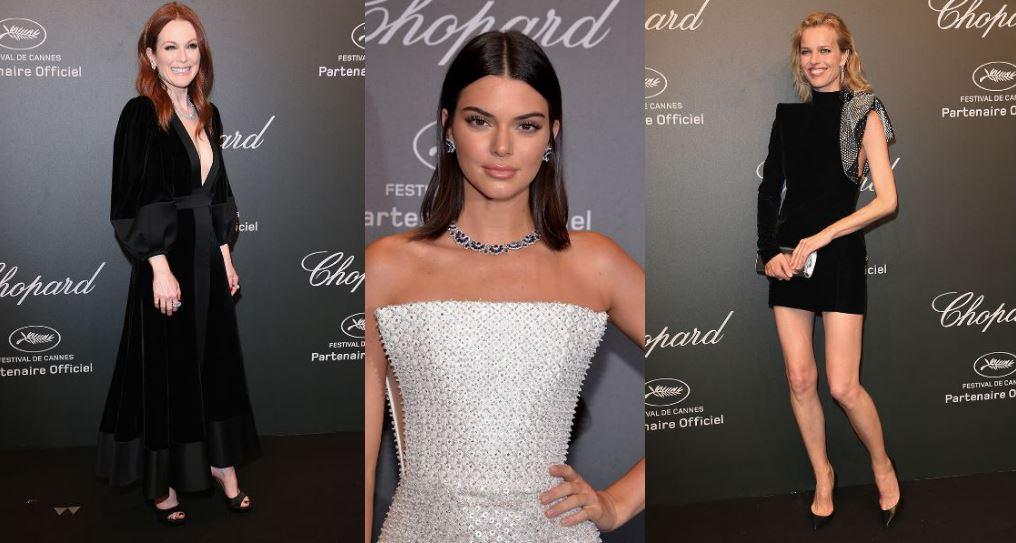Julianne Moore Kendall Jenner ed Eva Herzigova allo Space Party di Chopard.