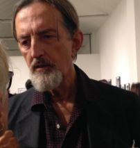 Giovanni Gastel foografato all'opening di My Ladies allo Spazioborgogno a Milano, ottobre 2017.