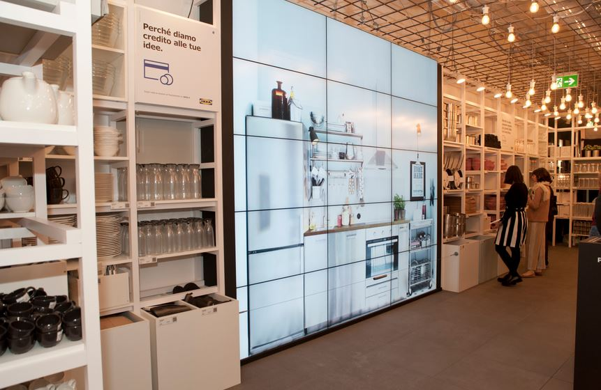 Il pop-up store Ikea a Roma.