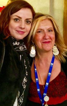 Cinzia Alibrandi a Sanremo 2016 con Annalisa. Quest'anno è l'inviata di The Way Magazine al Festival.