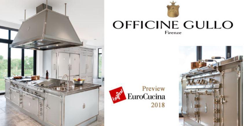 Officine Gullo Officine Gullo presenta il nuovo progetto SOFT GREY & NICHELED BRASS che contempla un ambiente cucina di altissimo livello, sia per quanto riguarda il design che le prestazioni assolutamente paragonabili a quelle di una cucina professionale dell'alta ristorazione.