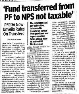 Transfer EPF TO NPS