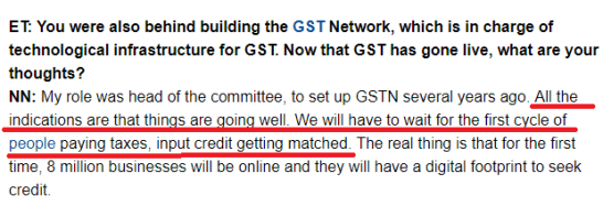 GST impact