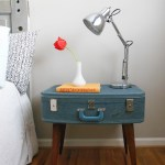 Diy Suitcase Side Table The Weathered Door