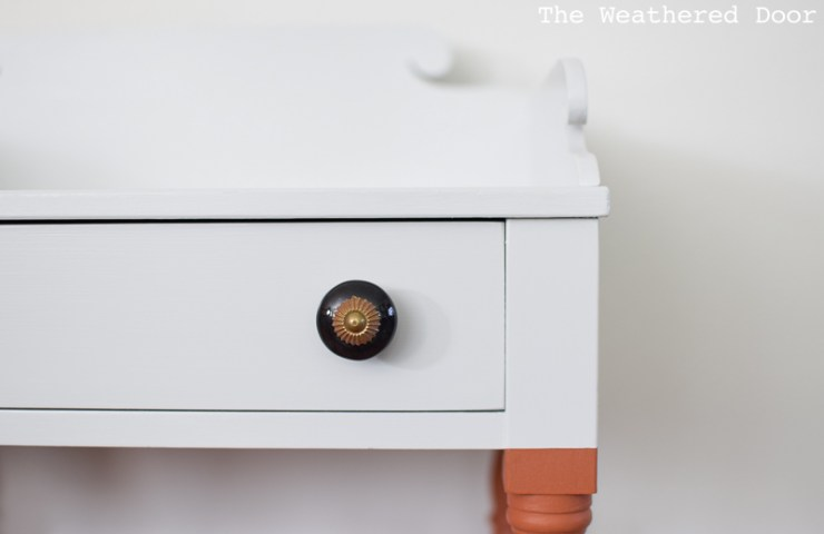 Before & After | Orange and Grey Color Block Nightstands