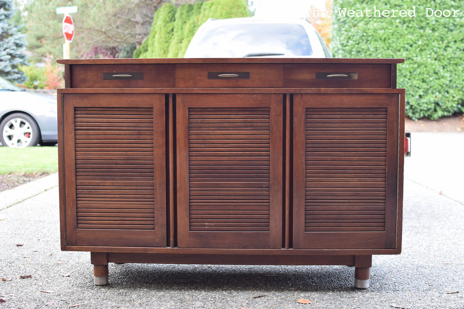 Willed china hutch turned cabinet and Bleed Through