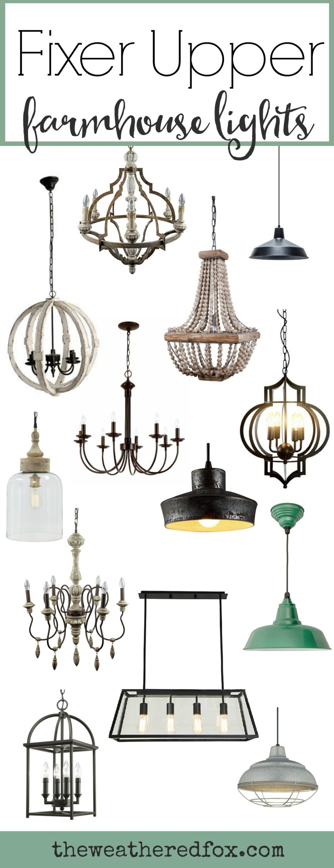 Add Fixer Upper Style With These Inexpensive Farmhouse Light Fixtures Browse Over 30