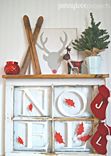 DIY Christmas Window Wall Rack A Holiday Stencil Create
