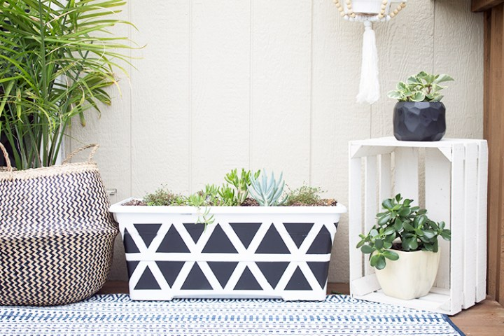 DIY Geometric Planter Design  Give new life to an old planter DIY Geometric Planter Design   My Breezy Room for The Weathered Fox