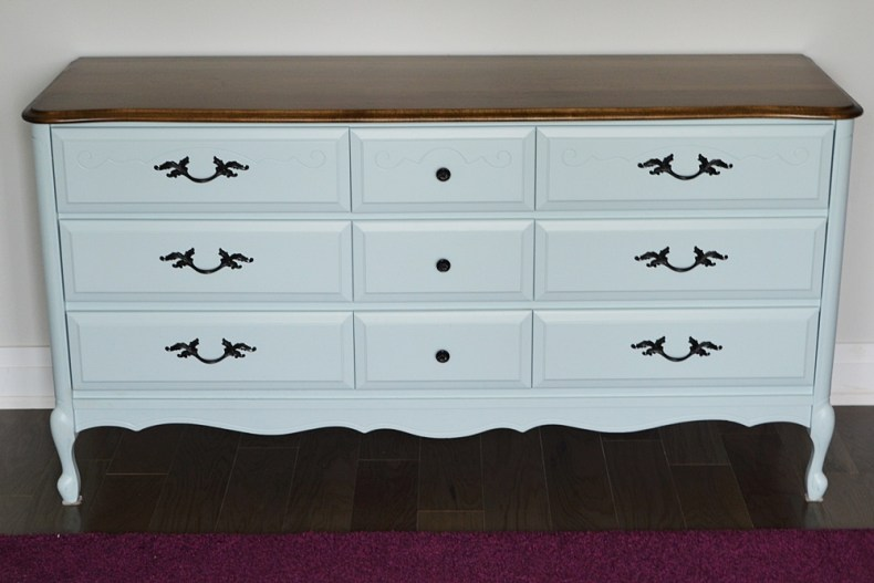 Custom mix of persian blue and snow white general finishes milk paint