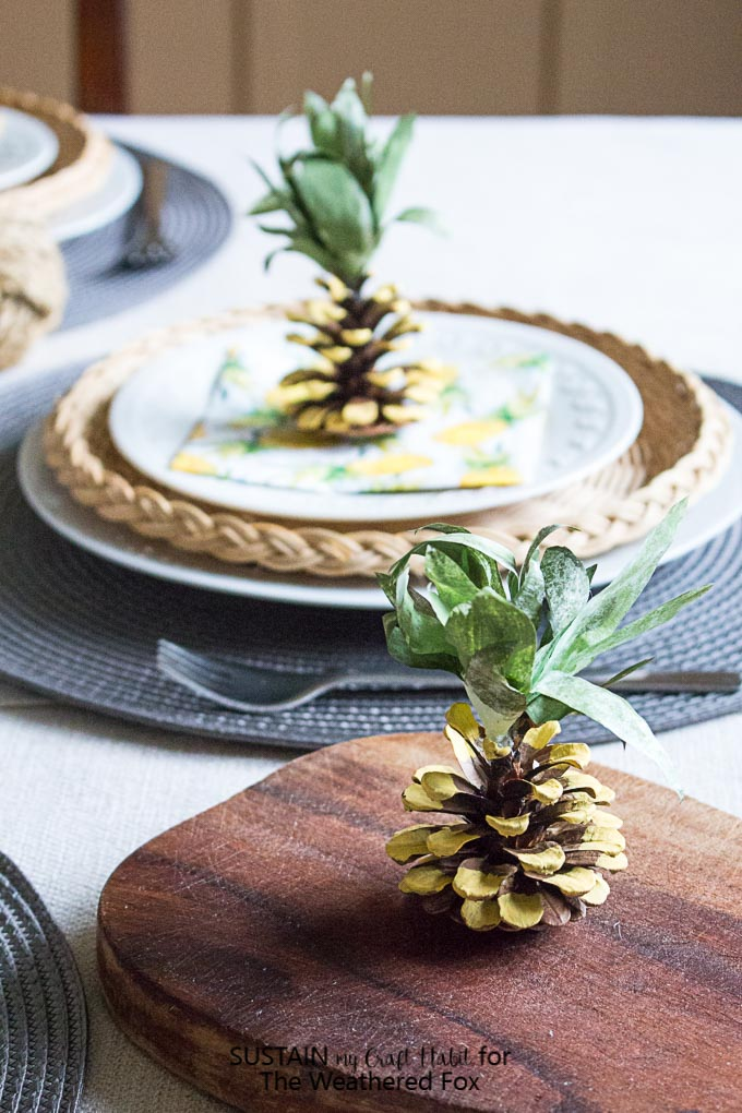Pineapple Party Decorations DIY Pine Cone Pineapples