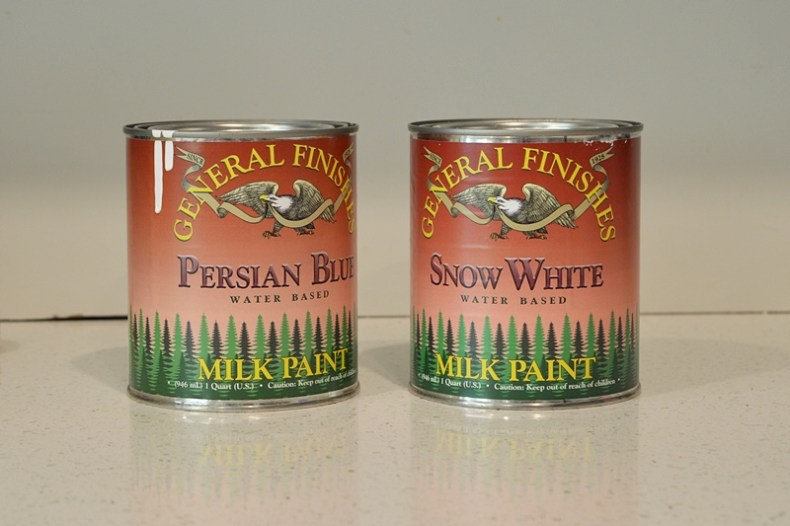 General finishes milk paint persian blue and snow white