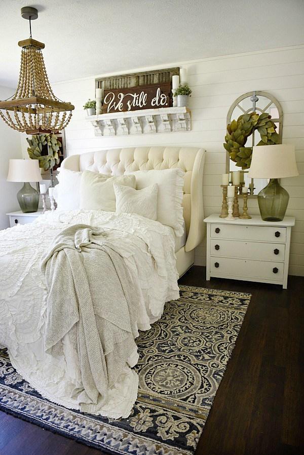 15+ Farmhouse Bedroom Ideas Anyone Can Replicate - The ... on Bedroom Farmhouse Decor  id=97485