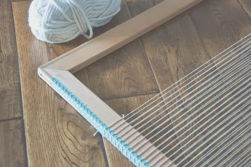 Create Your Own Frame Loom: No tools necessary!! | The Weaving Loom
