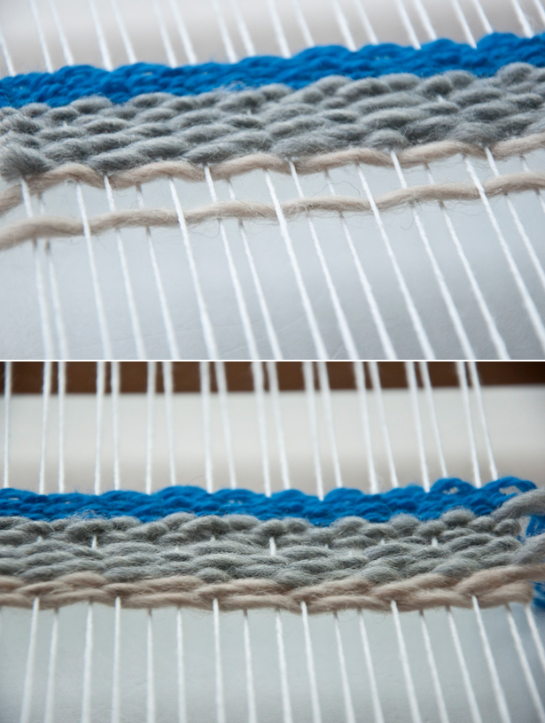 Cover your warp threads with the Weft Facing Weave | The Weaving Loom