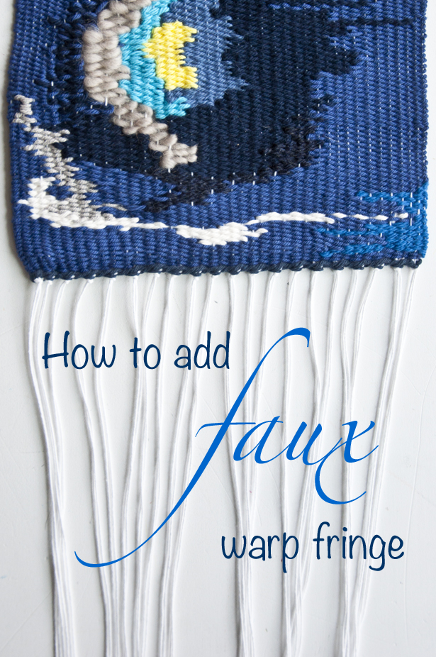 Faux Warp Fringe | The Weaving Loom