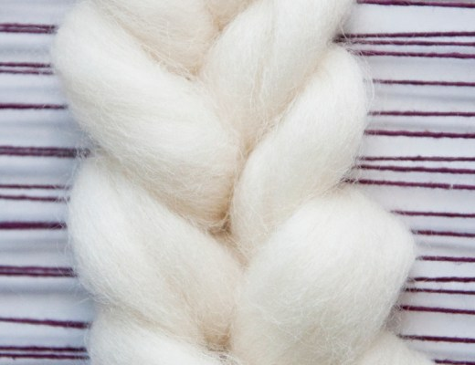 How to weave a fishtail braid with roving