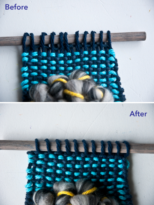 Twist Loops to Hang a Weave | The Weaving Loom
