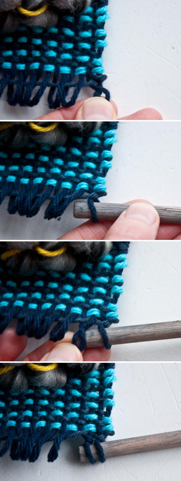 Twist Loops to Hang a Weave   The Weaving Loom