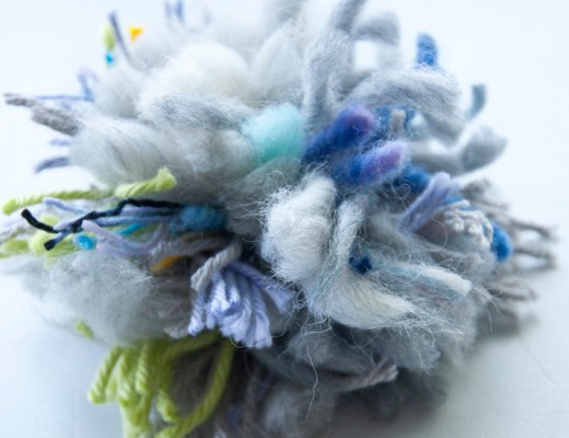 Scrap Yarn Pom Poms! A great idea for not wasting yarn!!