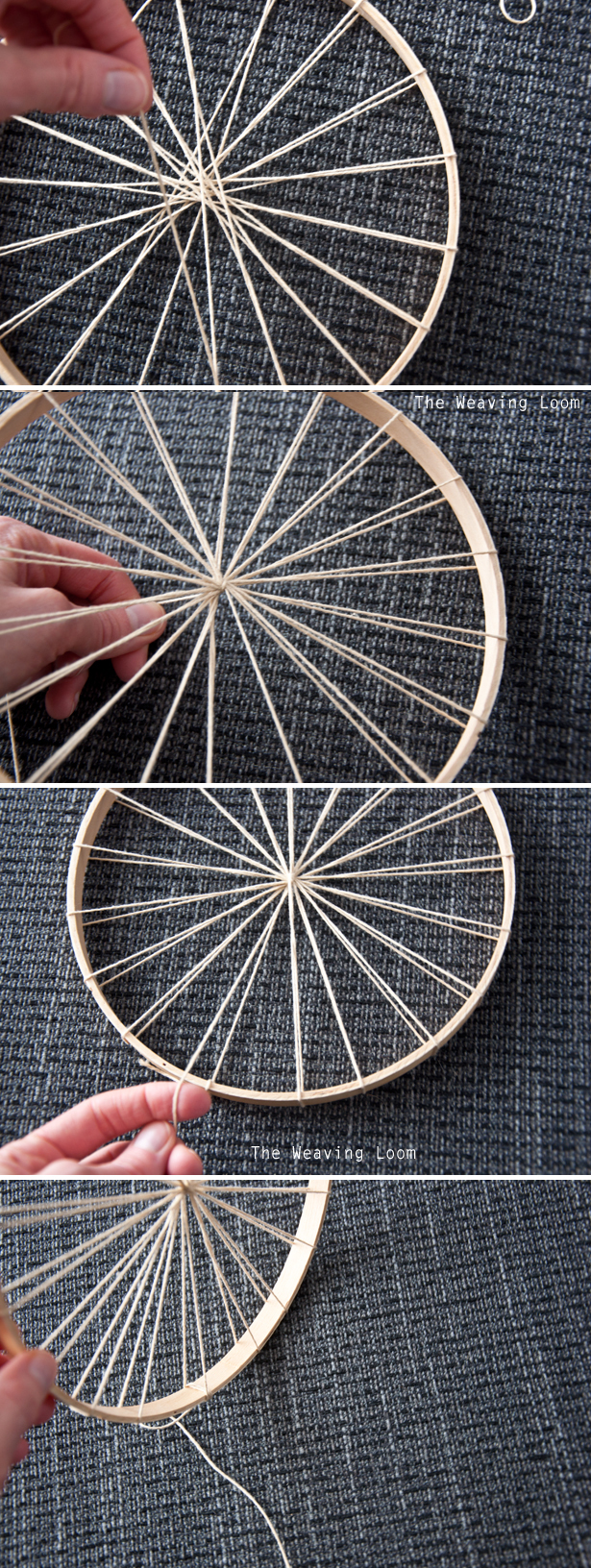 How to use an embroidery hoop as a loom