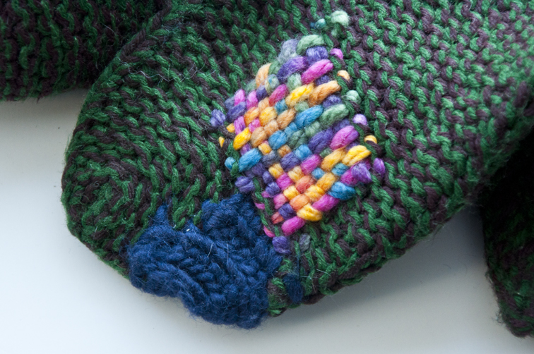 Mending Knits with Weaving