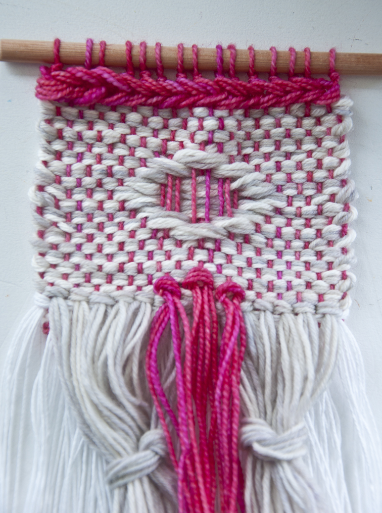Tutorial on the weft over weaving technique