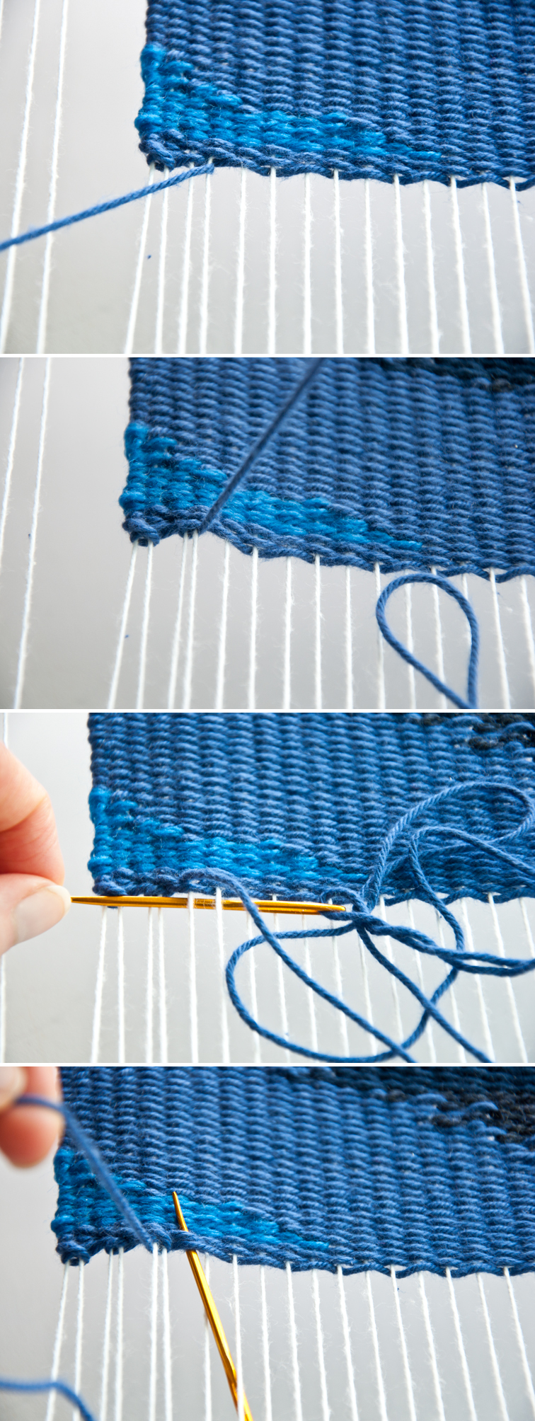 How to Hem Stitch a Weave