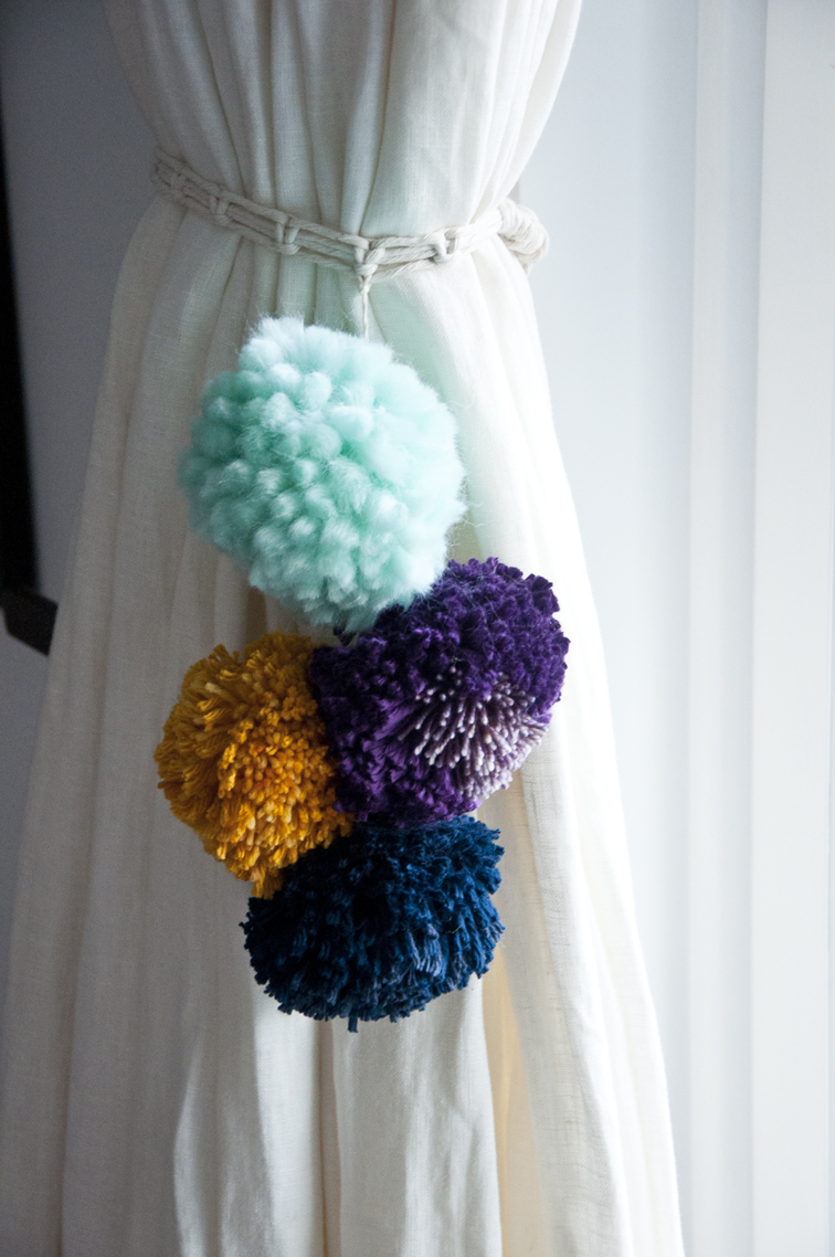 Weave This Make Your Own Pom Curtain Tie Back The