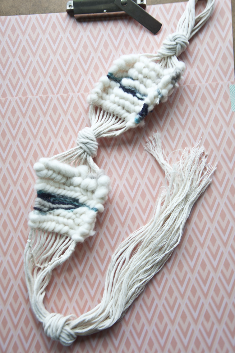 Something new to try, weaving without a loom!