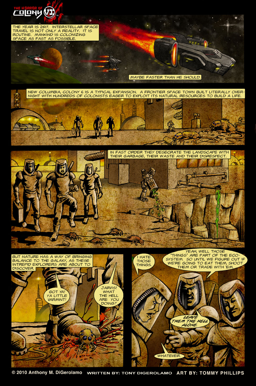The Horror of Colony 6 Page 1