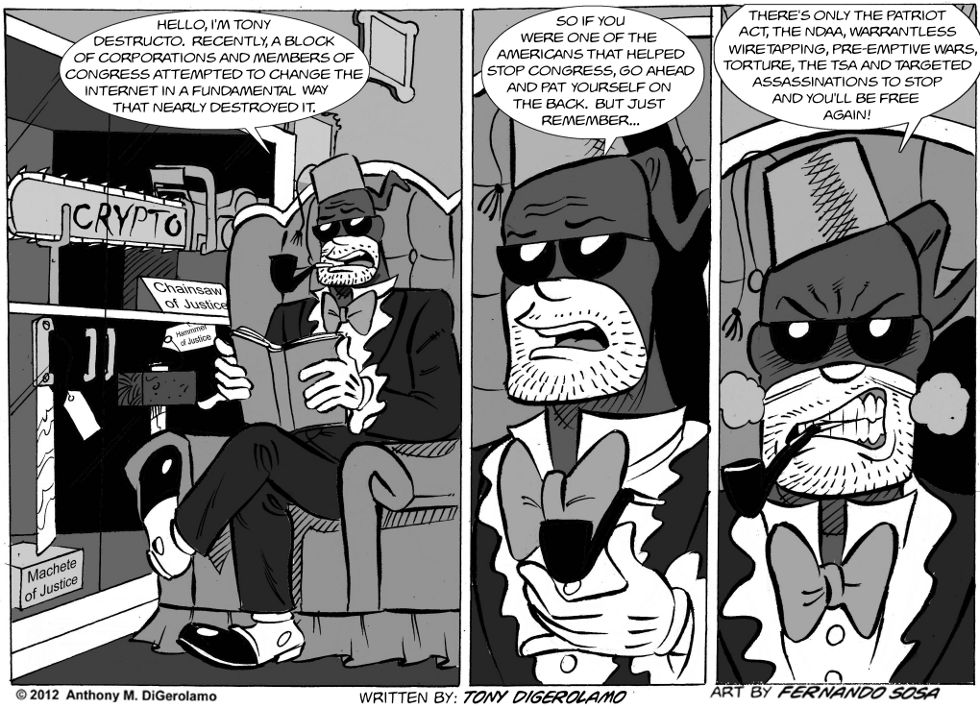 Tony Destructo:  One Down…