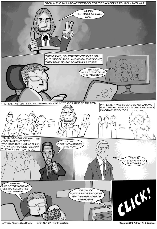The Antiwar Comic:  Celebrity Politics