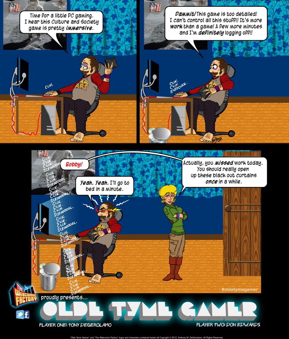 Olde Tyme Gamer:  One More Click