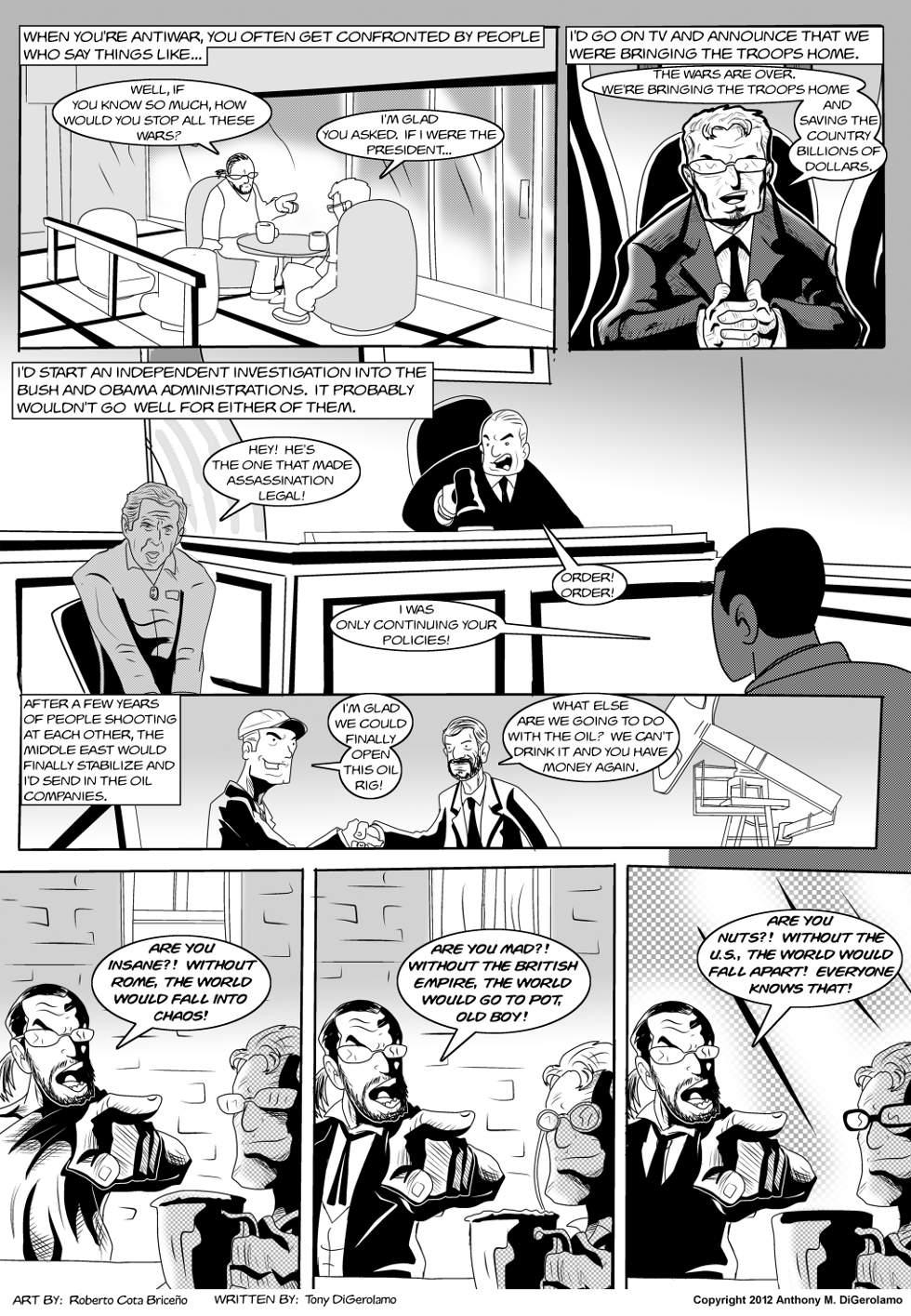 The Antiwar Comic:  A Peacenik's Christmas Wish