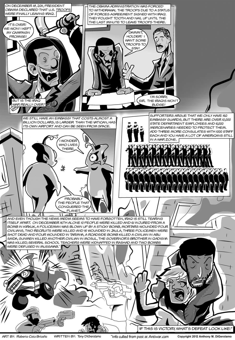 The Antiwar Comic:  Iraq is Still Burning