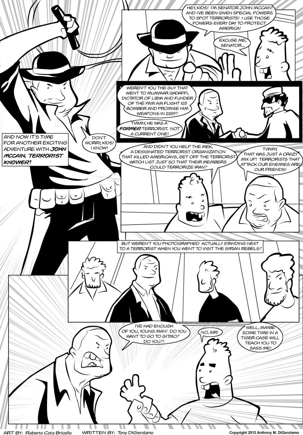 The Antiwar Comic:  John McCain, Terrorist Knower!