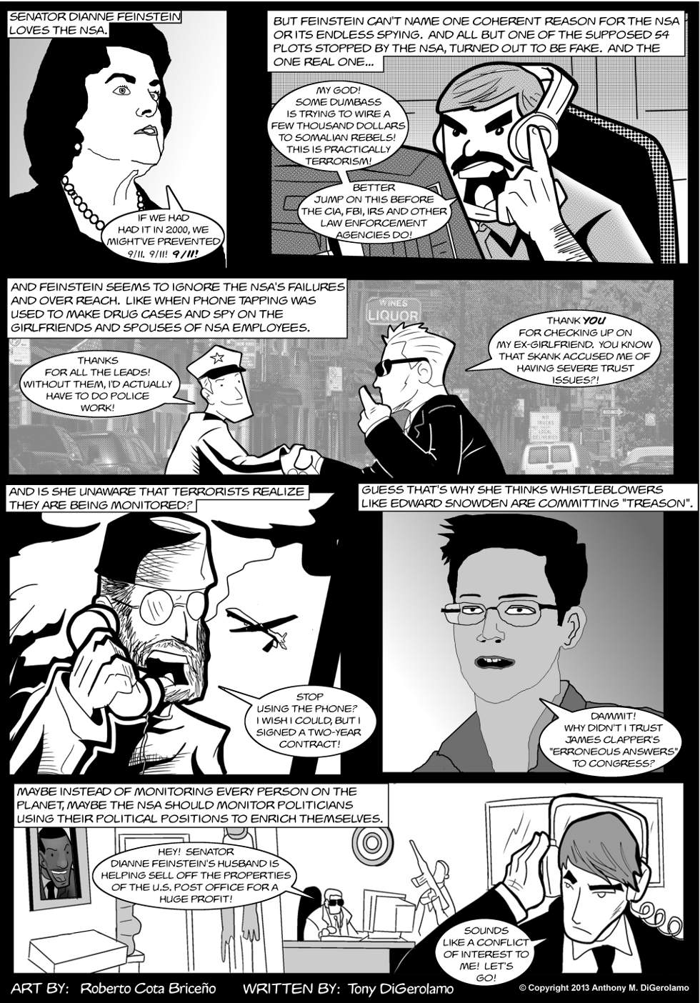 The Antiwar Comic:  Who Watches the NSA Watchers?