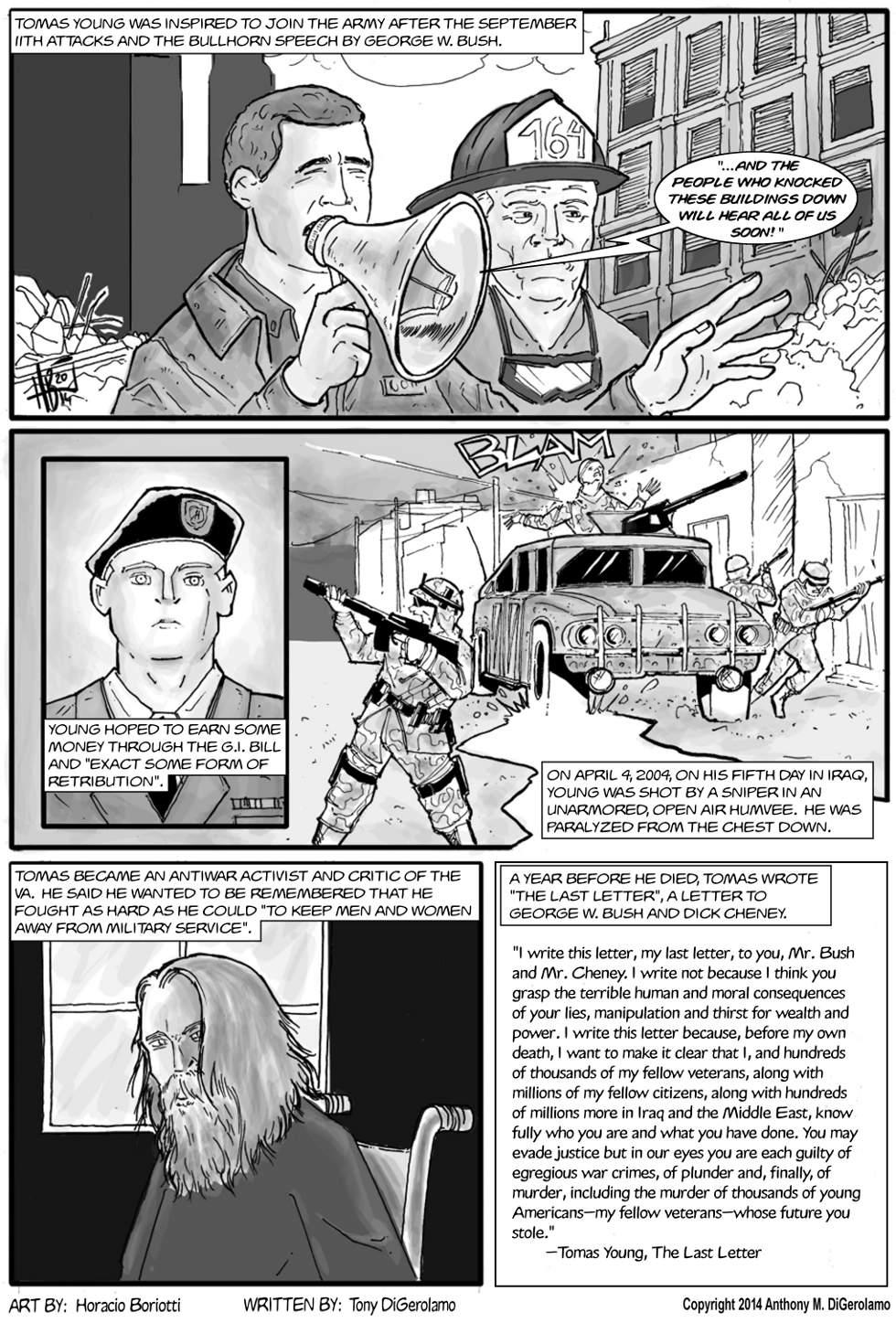 The Antiwar Comic:  The Last Letter