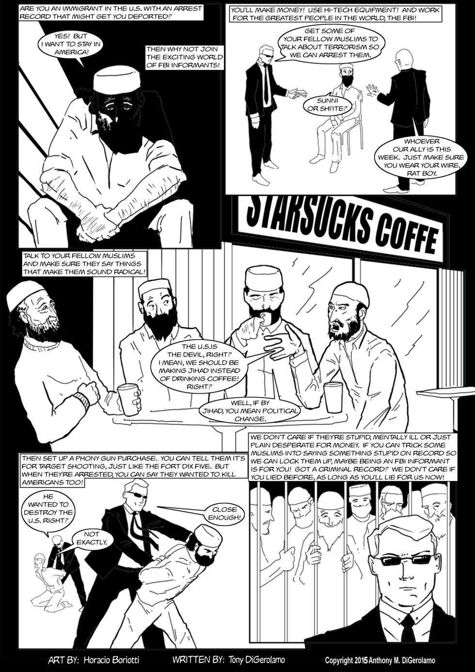 The Antiwar Comic:  FBI Snitching