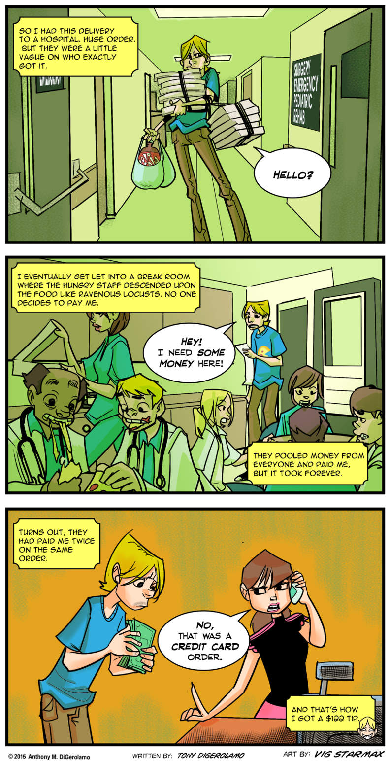 Tales of Pizza:  The Hospital Tip