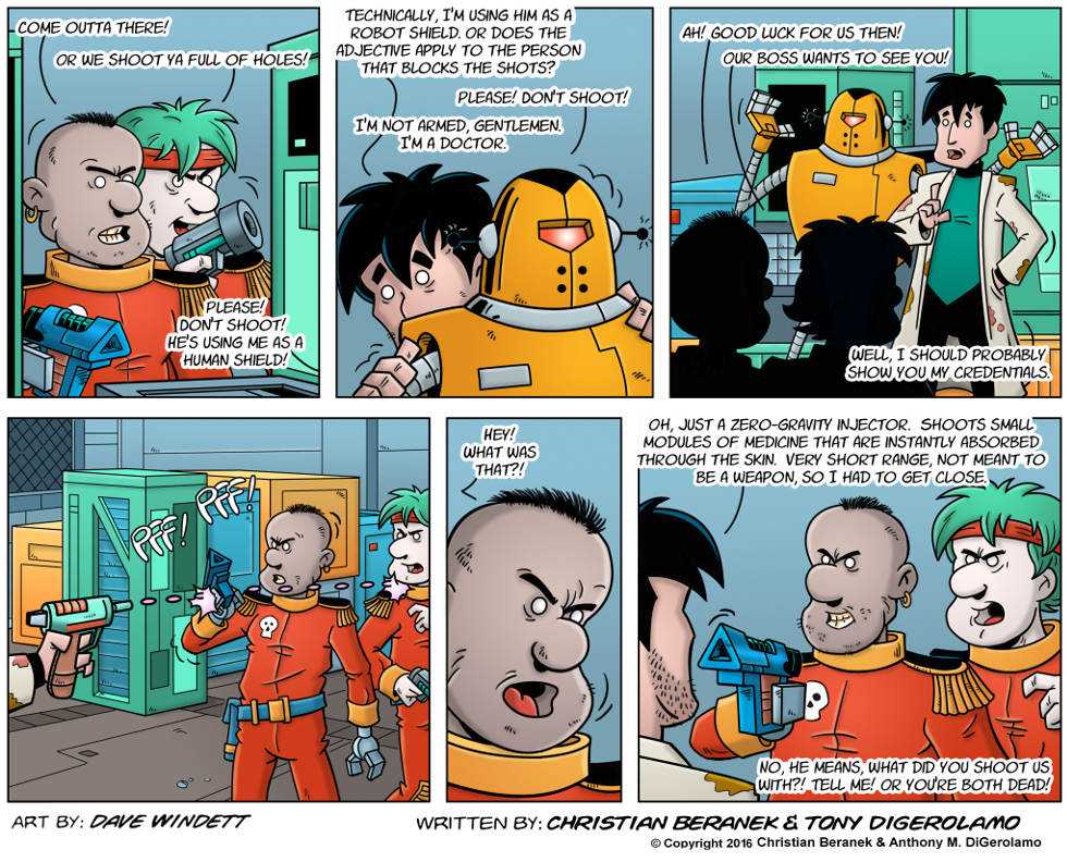 Intergalactic Medical Doctor:  Zero Gravity Injector
