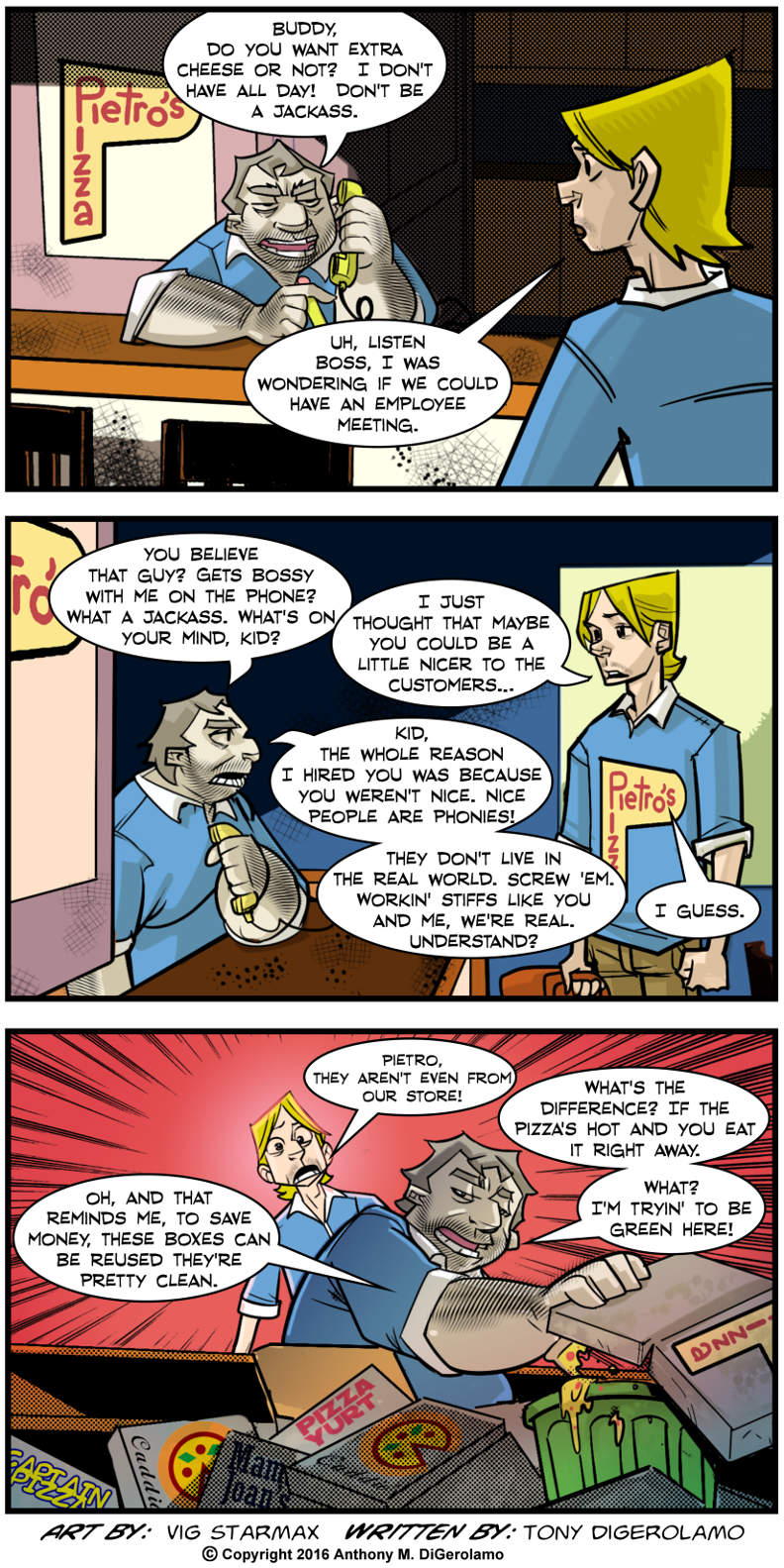 Tales of Pizza:  It's Hard to Change a Boss